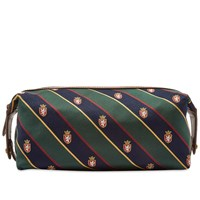 Polo Ralph Lauren Tie Silk Wash Bag Brown