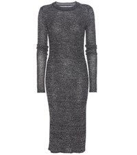 Isabel Marant Dakota Linen And Wool Blend Dress Black