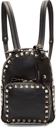 Valentino Black Leather Rockstud Mini Backpack