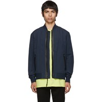 Rag And Bone Navy Tech Bomber Jacket