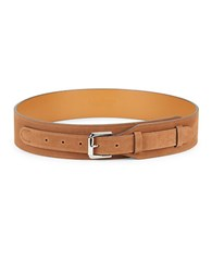 Lauren Ralph Lauren Wide Suede Belt Tan