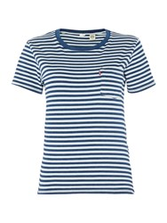 Levi's The Perfect Pocket Tee Jersey Top Blue