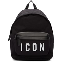 Dsquared2 Black And White Icon Backpack