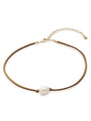 Design Lab Lord And Taylor Bead Accented Choker Necklace Gold