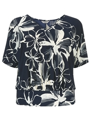 Windsmoor Floral Lace Top Navy