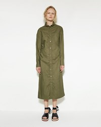 Marni Crinkle Shirtdress Leaf Green