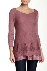 Luma Crochet Trim Sweater Pink