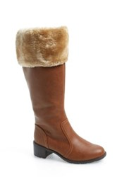 Softspots 'Campbell' Faux Fur Cuff Tall Boot Women Brown