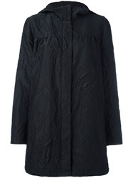 Moncler Gamme Rouge Paisley Pattern Raincoat Black