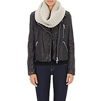 Barneys New York Women's Ribbed Cowl Scarf Grey