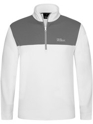 Oscar Jacobson Men's Pock Tour Half Zip White