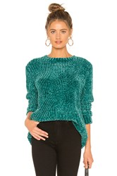 525 America Chenille Sweater Green