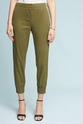 Anthropologie Striped Military Joggers Green