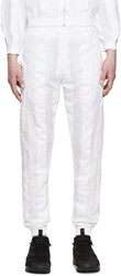 Cottweiler White Striped Robe Lounge Pants