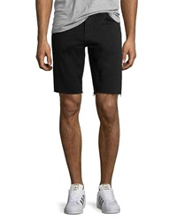 J Brand Men's Eli Over Dyed Cutoff Jean Shorts Black