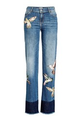 Red Valentino R.E.D. Printed Straight Leg Jeans