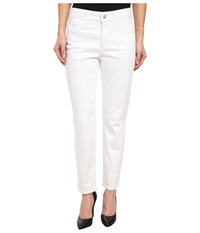 Nydj Petite Petite Clarissa Skinny Ankle Fine Line Twill In Optic White Optic White Women's Casual Pants