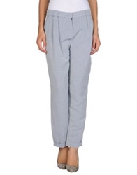 Oblique Casual Pants Blue