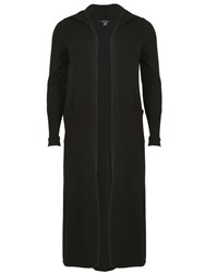 Samya Plus Size Longer Length Hooded Cardigan Black