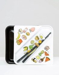 Monki Sushi And Chopsticks Foodbox Black