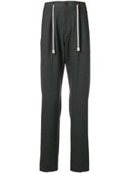 Eleventy Drawstring Tapered Trousers Grey