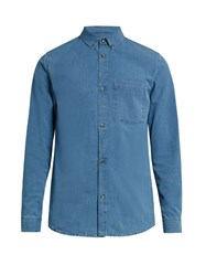 A.P.C. Clift Patch Pocket Denim Shirt Light Blue