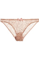 Agent Provocateur Soiree Czarinah Sequined Tulle Briefs Pink