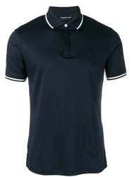 Emporio Armani Slim Fit Polo Top Blue