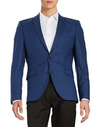 Selected Two Button Jacket Blue Depths