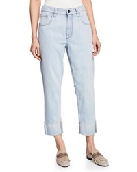 Brunello Cucinelli Acid Washed Straight Leg Jeans Blue