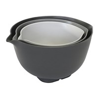 Venn Non Slip Mixing Bowls With Lids Set Of 3 Grey