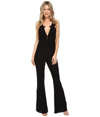 For Love And Lemons Laney Lou Romper Black Women's Jumpsuit Rompers One Piece