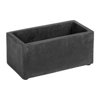 Serax Cement Pot With Holes Black Rectangle