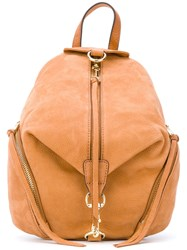 Rebecca Minkoff Fringed Multi Zips Backpack Women Calf Leather One Size Nude Neutrals