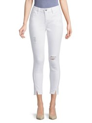 Candc California Forward Distressed Jeans White