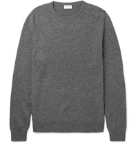 Saint Laurent Ribbed Cashmere Sweater Gray