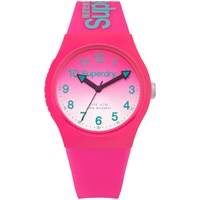 Superdry Syl198pn Women's Urban Laser Silicone Strap Watch Hot Pink