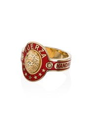 Foundrae Strength Ring Gold Red