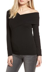 Trouve Women's Asymmetrical Neck Top