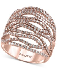 Macy's Effy Final Call Diamond Statement Ring 1 3 8 Ct. T.W. In 14K Rose Gold