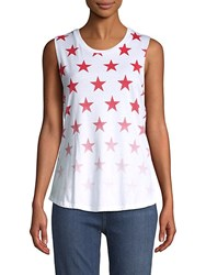 Chrldr Star Cotton Tank Top White