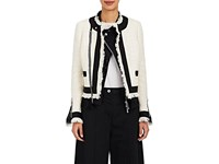 Sacai Women's Tweed Lace Trimmed Jacket White