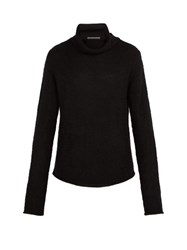 Denis Colomb High Neck Cashmere Sweater Black