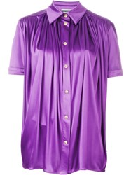 Fausto Puglisi Gathered Front Shirt Pink And Purple