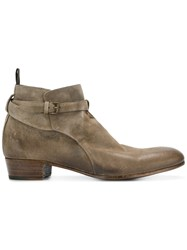 Lidfort Buckled Boots Nude And Neutrals