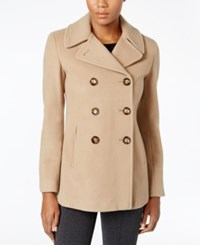 Calvin Klein Wool Cashmere Double Breasted Peacoat Only At Macy's Camel