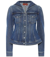 Alexachung Seamed Denim Sailor Jacket Blue