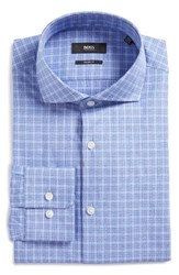 Hugo Men's Boss Mark Sharp Fit Plaid Dress Shirt