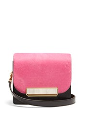 Hillier Bartley Satchel Mini Calf Hair And Leather Shoulder Bag Multi