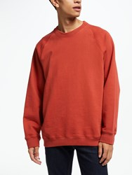 John Lewis And Co. Athletic Crew Neck Sweatshirt Red